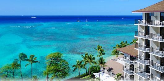 ハワイらしい美しい南国の景色が楽しめます